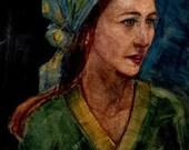 Original Watercolor Katia...