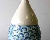 SALE Big Blue on Blue Vase