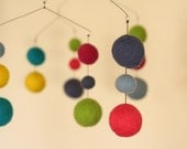 July - Birth Months Series - Eco Friendly - Natural - Felted Wool - Baby Mobile