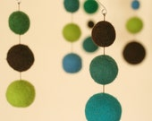 Tadpole - Eco Friendly - Natural - Felted Wool - Baby Mobile