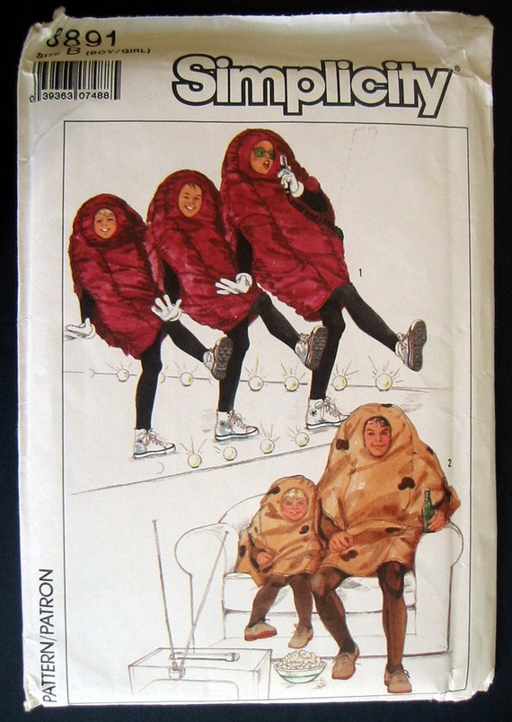 California Raisin Simplicity Sewing Pattern Halloween By