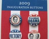 Barack Obama Inauguration 4 Button Set
