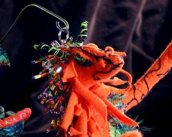 Soft Sculpture Art Doll Makira the Sea Dragon orange mermaid dragon doll