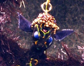 Vampire Maiden Soft Sculpture Art Doll    Belladonna black winged batwoman doll