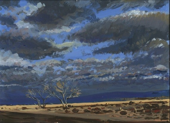 DESERT CLOUDS  Acrylic Painting   Reserved for Chris R.