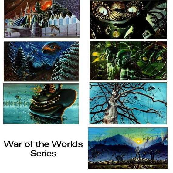 War of the Worlds Art Cards