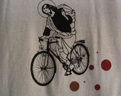 Bicycle Tee Shirt  Womens Size Large American Apparel by BonspielCreation