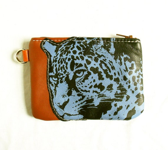 Leopard Pouch in Recycled Leather