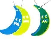Banana-man Necklace Blue, Yellow & Green