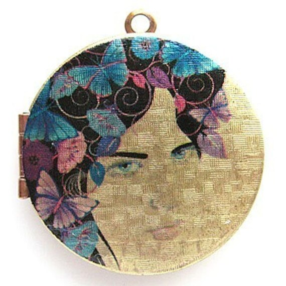 Altered Art PHOTO LOCKET - FANTASY FLOWER GODDESS - 06