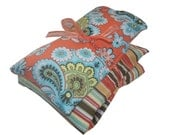 Aromatherapy Herbal Heat Cold Pack Gift Set with Eye Pillow Removable Washable Cover Amy Butler Fabric