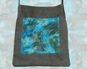 Earthy Cord Batik Hippie Patch Bag