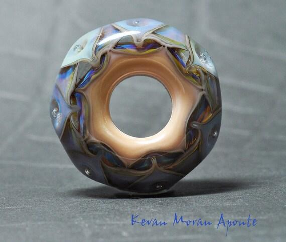 Big Hole Lampwork bead -Labrinthine