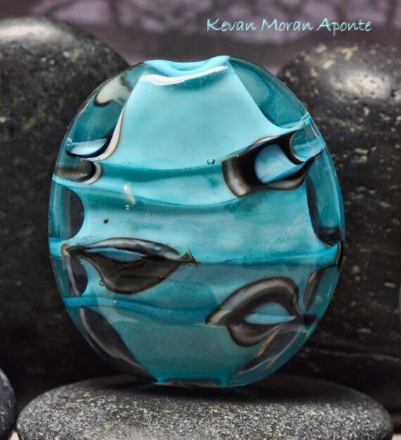 Turquoise - handmade lampwork glass focal bead