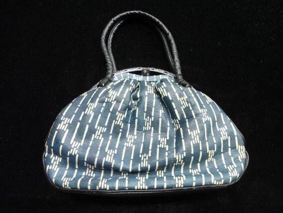 Vintage leather kimono handbag