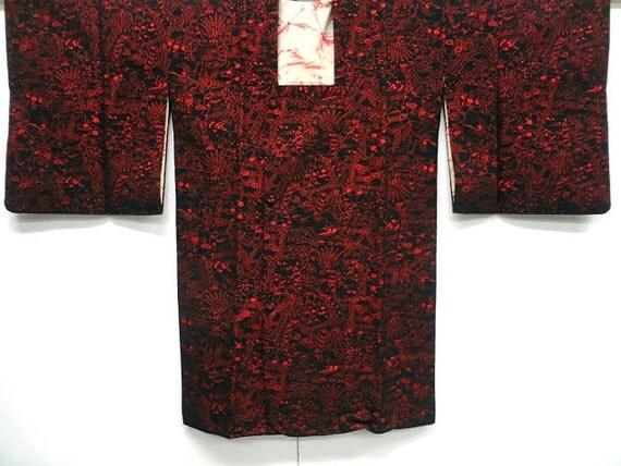 Japanese kimono michiyuki - RARE vintage silk velvet -
