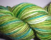 hand-dyed worsted wool and mohair yarn -- seaweed
