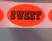80 SWEET stickers, bright ass orange