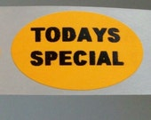 50 'todays special' stickers that i HATE and that's why they are cheap.