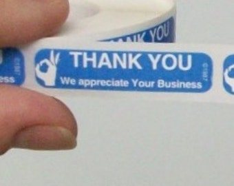 SALE - 100 'Thank You - We Appreciate Your Business' stickers