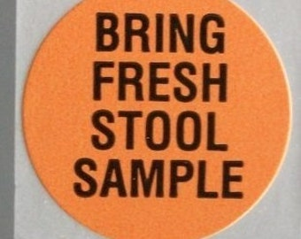 LAST ONES - 80 stickers about stool samples and... freshness