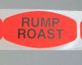 SALE, 80 RUMP ROAST stickers for your rUMP