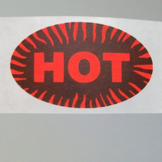 40 HOT stickers, fluorescent orange with flames and they're almost just like the other ones in my shop but then they're different