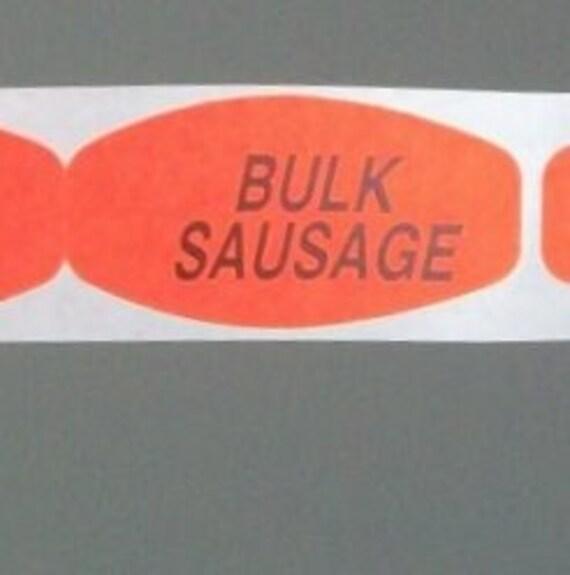 SALE, 80 bulk sausage stickers. gross