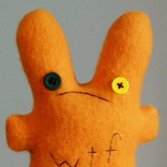 concerned WTF bunny in orange