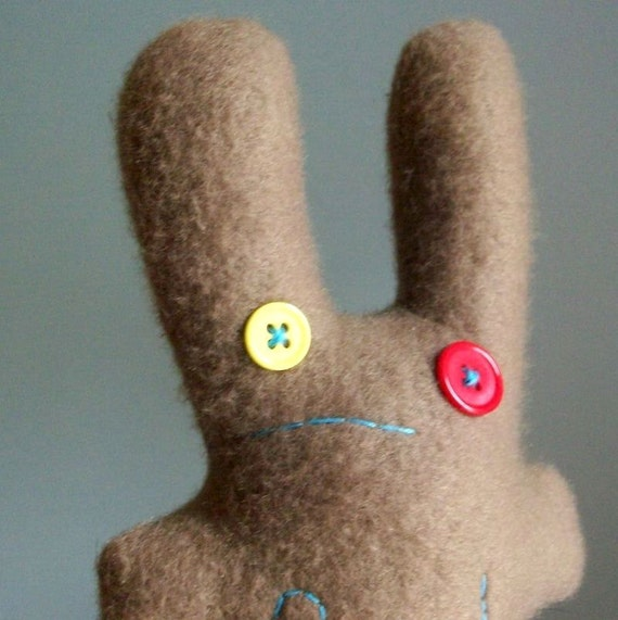 worried f.ck bunny in khaki brown, sale