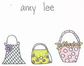 Purses Personalized Notecards