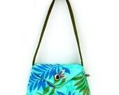 Bitty Bag in Blue Green Tropics