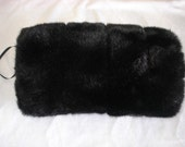 Saari Design HAND MUFFS hand muff faux fur weddings black mink Since 2001