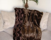 Designer Faux Fur Mink Throw Blanket