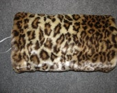 Faux Fur handmuff hand muff mufflers leopard