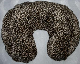 leopard faux fur  boutique baby  nursing pillow cover