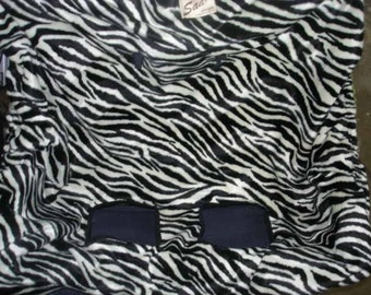 Shopping cart cover zebra