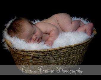 White Shag Faux Fur Boutique Baby Blanket