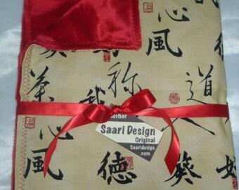 Kanji japanese tattoo boutique baby blanket Saari Design