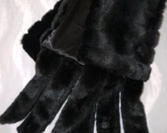 Faux Fur Mink Stole With Tails Glam for Wedding Parties Parades or Events