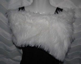 Faux Fur Shag Wrap Stole Great for Weddings