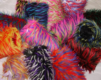 Saari Design The Neon Collection Faux Fur Hand Muffs, faux fur hand muffs, Neon hand muff, Stoles,