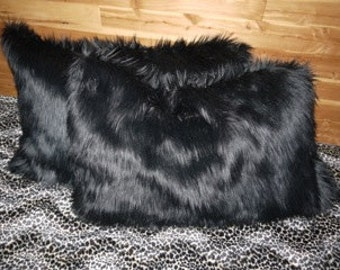 SAARI DESIGN Faux fur throw pillowcases set of 2 OR 1 body pillowcase Your Choice of many furs