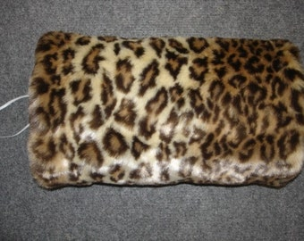 SALE one at this price Faux Fur hand muff mufflers leopard Ready to ship