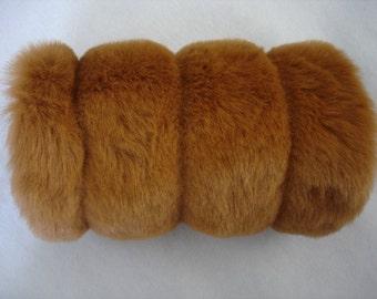 Faux Fur Hand Muffs weddings brown mink