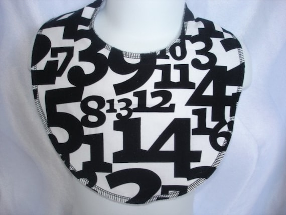 What's your number baby bib, number baby bib