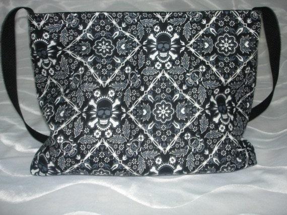 Punk Skull Bandana boutique diaper bag or purse