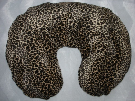 leopard faux fur  boutique baby  nursing pillow cover