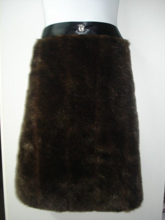 Hostess Faux Mink Apron