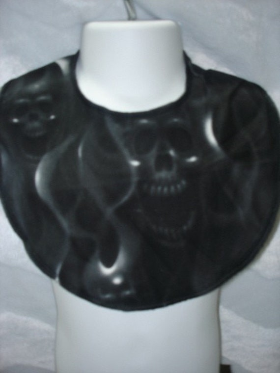 Skulls punk rockabilly boutique baby toddler bib